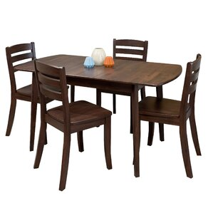 Liggett 5 Piece Wood Dining Set by Three Posts