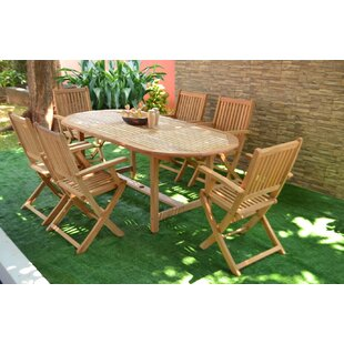Hulda 7 Piece Teak Dining Set