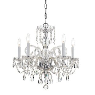 Willa Arlo Interiors Caledonian 5-Light Candle Style Chandelier