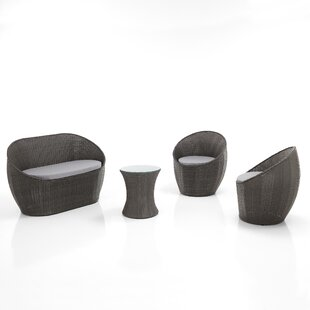 Gessner 4 Seater Rattan Conversation Set By Sol 72 Outdoor