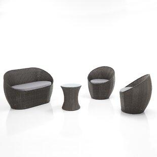 Price Sale Gessner 4 Seater Rattan Conversation Set