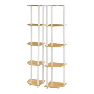 Clapen 5 Tier Corner Unit Bookcase Set (Set Of 2) By 17 Stories