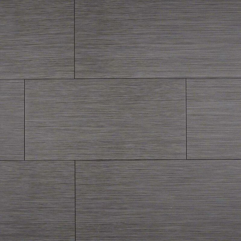 Msi Focus Graphite 12 X 24 Porcelain Wood Lookfield Tile In Gray