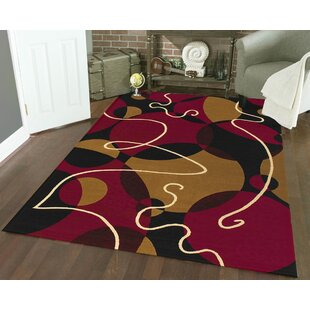 Searching for Zorgo Black/Red Area Rug By Threadbind