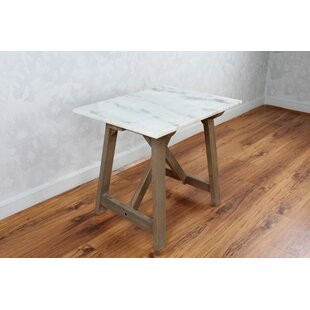 Gracie Oaks Bertina Marble Side End Table
