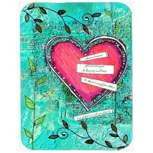 Review Heartfelt Wish Valentine's Day Glass Cutting Board By Caroline's Treasures