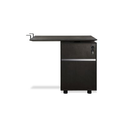 Comm Office Bergerson 27 H x 32 W Reversible Desk Return Finish: Espresso