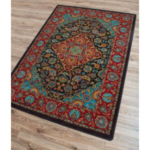 Robert Caine Montreal Desert Red/Blue Area Rug