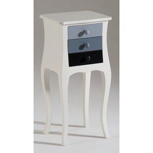 Cooney 3 Drawer Bedside Table By Fleur De Lis Living