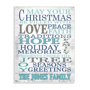 Personalized May Your Christmas Textual Art on Plaque