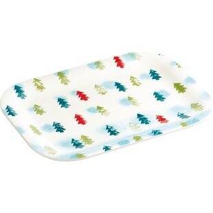Winter Trees Snack Platter (Set of 2)