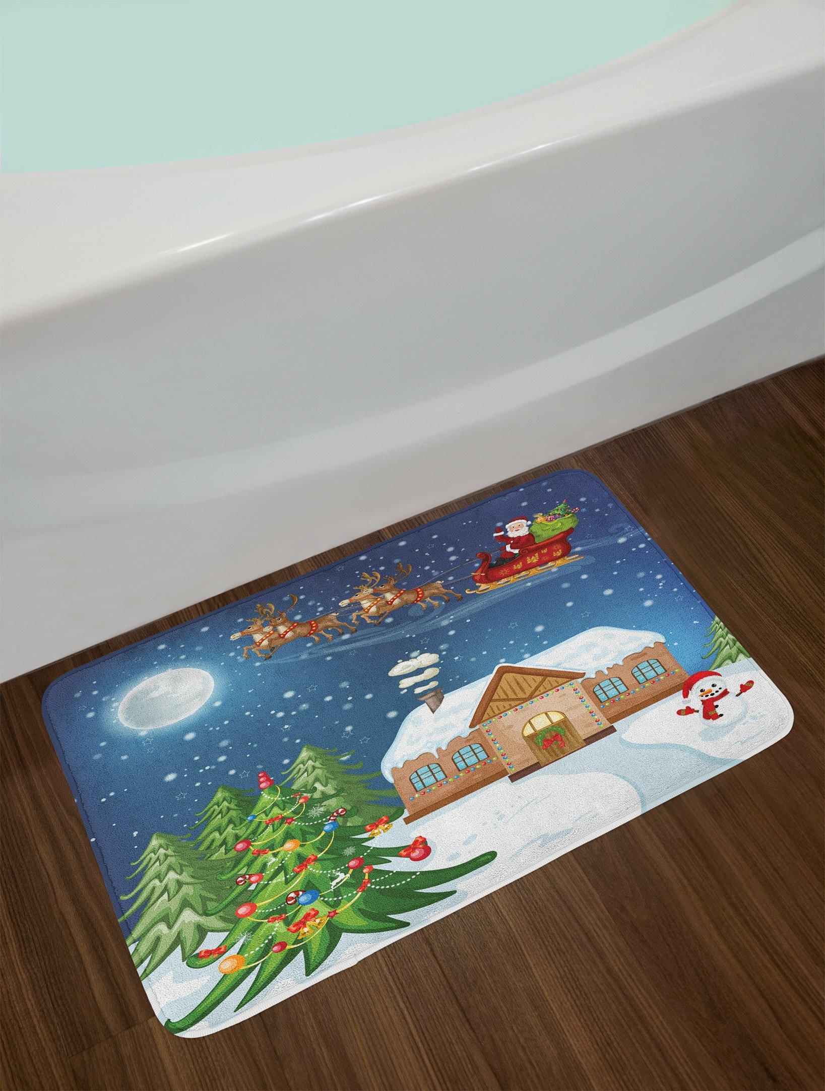 Multi Christmas Bath Rug