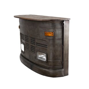 Brenda Vintage Bus Front Bar Cabinet by 17 Stories