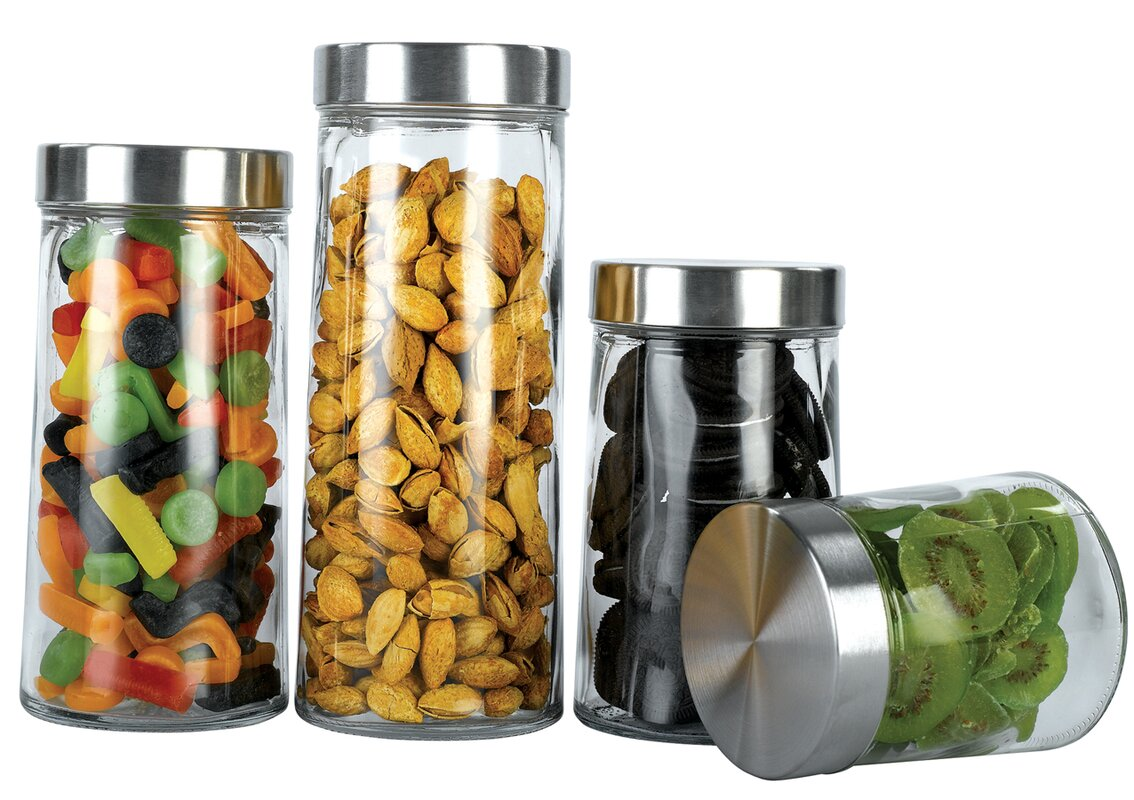 100 oggi kitchen canisters oggi 3 piece stainless steel