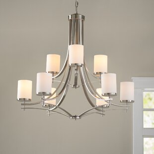 Best Duran 9-Light Shaded Chandelier By Millwood Pines