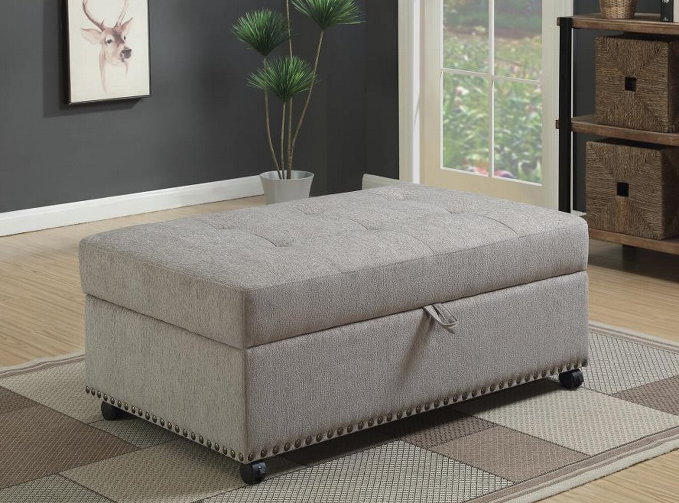 Wondrous Lelia Sleeper Storage Ottoman Ocoug Best Dining Table And Chair Ideas Images Ocougorg