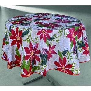 Wonderful Jolly Poinsettia Tablecloth