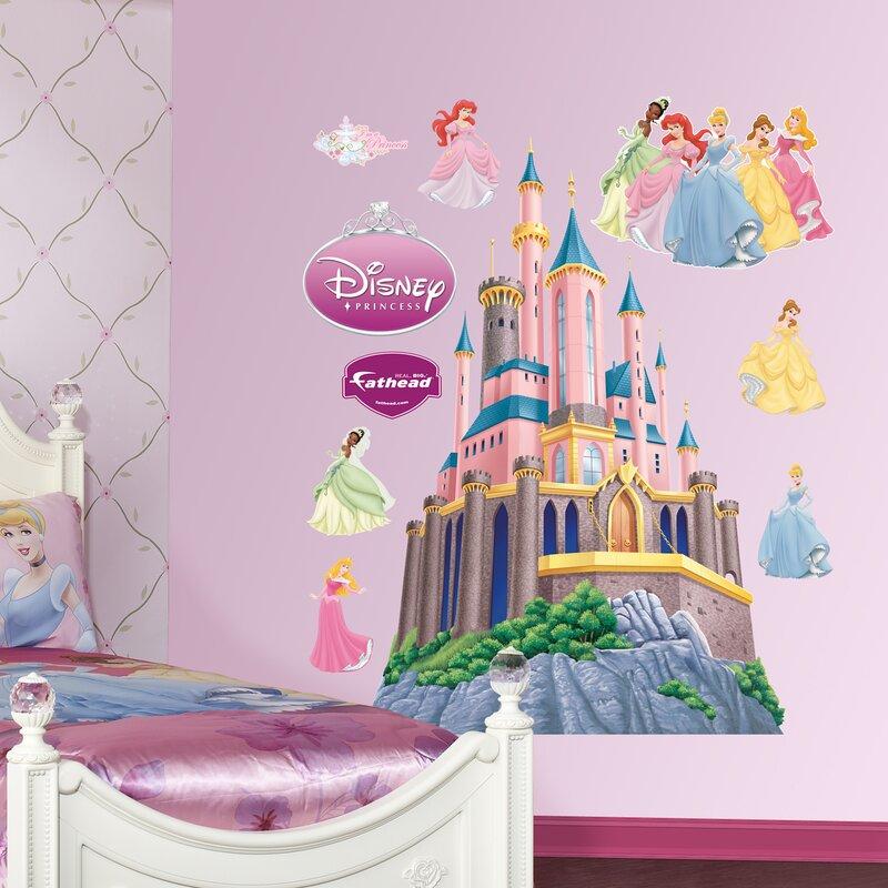 Fathead Disney Princess Castle Wall Decal Reviews Wayfair - Wall decals disney