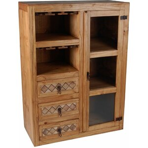 Barschrank Mexico mit Weinregal von Hazelwood Home