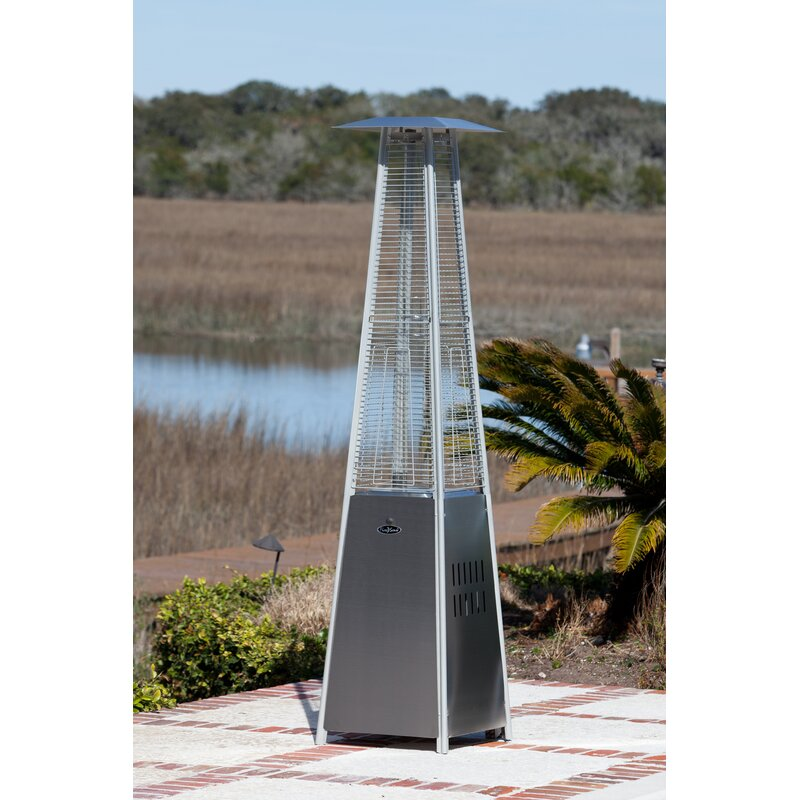 fire sense pyramid flame 40 000 btu propane patio heater reviews