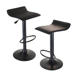 Avery Adjustable Height Swivel Bar Stool (Set of 2) by Zipcode Design