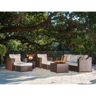 Haney Patio 9 Piece Rattan Sofa Seating Group with Cushions By Bayou Breeze