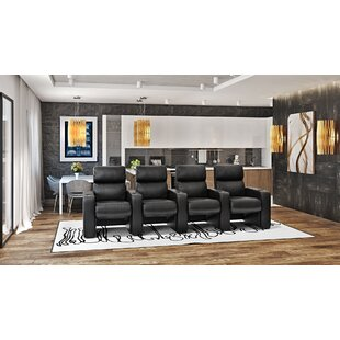 Manual Rocker Recline Home Theater Row Seating (Row of 4)