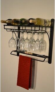 Burtondale 5 Bottle Wall Mounted Wine Rac..