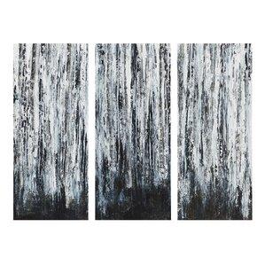 u0027birch forestu0027 3 piece graphic art on wrapped canvas set set of 3 u0027