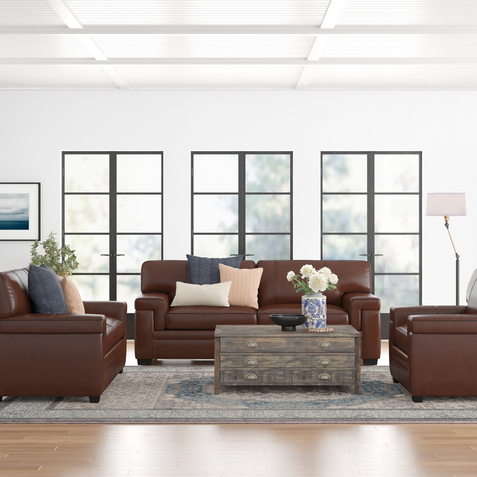 Three Posts Cabott 3 Piece Living Room Set Wayfair