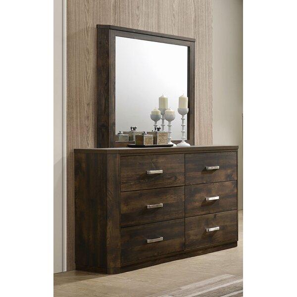 Loon Peak Sherrard 6 Drawer Dresser With Mirror Wayfair