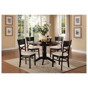 Solano Transitional Dinette 5 Piece Solid Wood Dining Set Red Barrel Studio