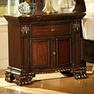 Astoria Grand Domingues Engraved Nightstand