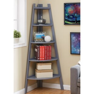 Highland Dunes Foskey Decorative 5-Tier Frame Corner Unit Bookcase