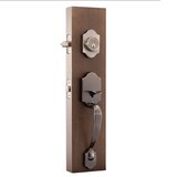 Copper Creek Handleset with Single Cylinder Deadbolt and Copper Creek Door Lever and Colonial Rosette