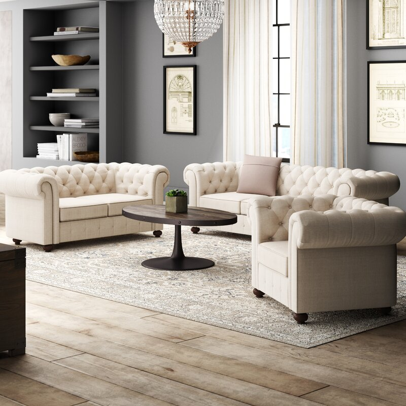 Garcia 3 Piece Living Room Set