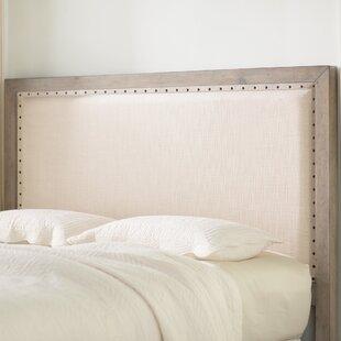 Lark Manor Burgundy Upholstered Panel Headboard