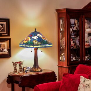 Quince Golden Poppy Bankers Lamp (Set of 2)