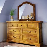 Kennison 7 Drawer Double Dresser with Mirror by American Woodcrafters