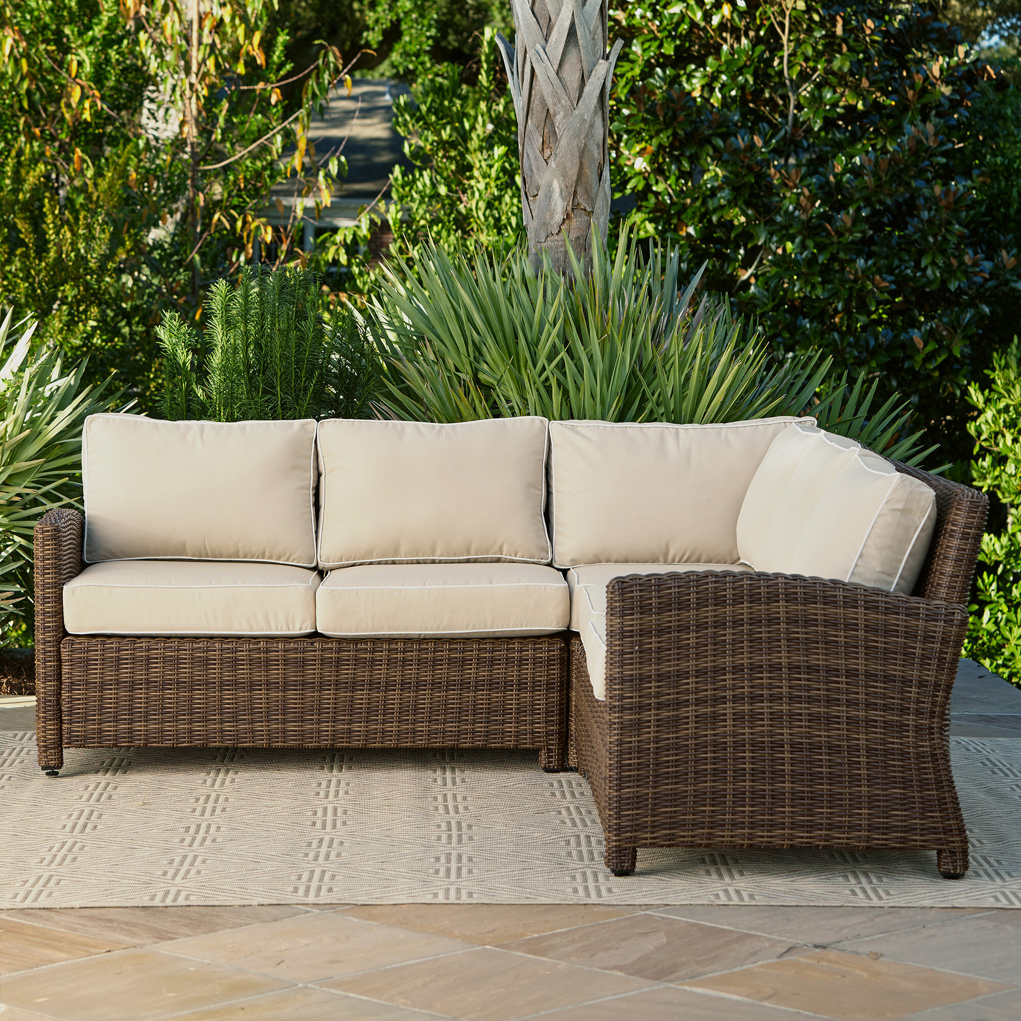 woven lovely sofa wicker rattan resin outdoor of chairs best patio furniture sectional unique cool cushions