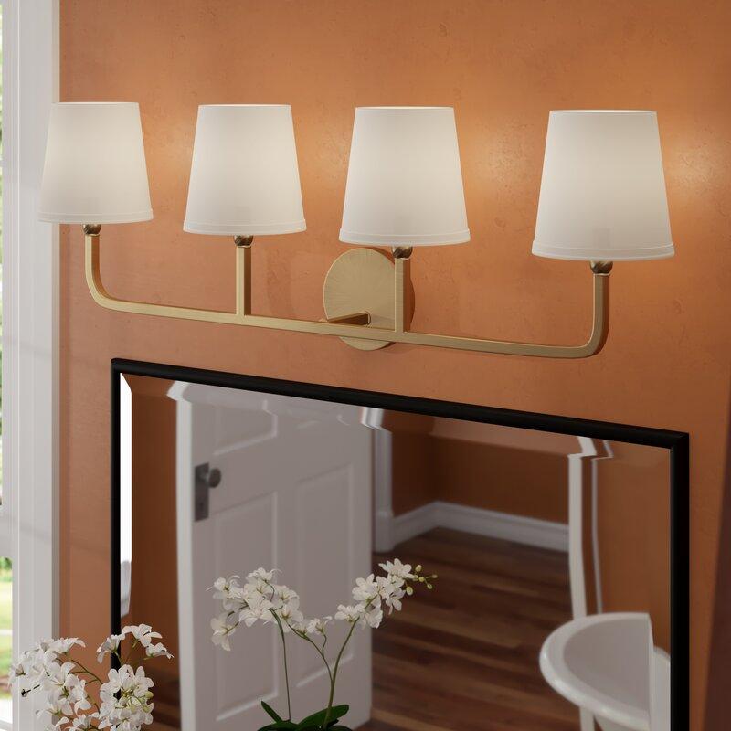 Three Posts Climsland 4-Light Vanity Light & Reviews | Wayfair