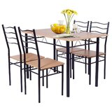 Deauntre 5 - Piece Counter Height Dining Set by Latitude Run®