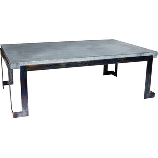 17 Stories Iyanna Steel Strap Coffee Table
