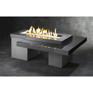 The Outdoor GreatRoom Company Uptown-K Crystal Concrete Fire Pit Table