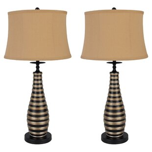 Artistic Curved Rib 29.5 Table Lamp (Set of 2)