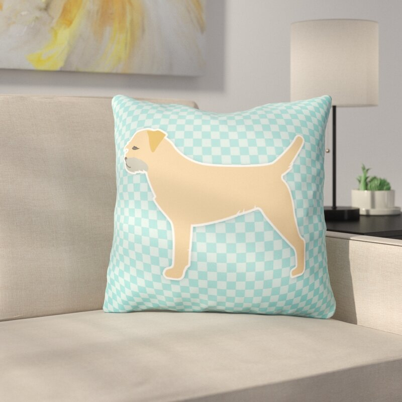 Red Barrel Studio Border Terrier Indoor Outdoor Throw Pillow Wayfair