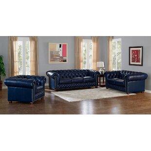 Trent Austin Design Forsyth Leather 2 Piece Living Room Set
