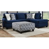Aaliyaha 119'' Polyester Blend Right Hand Facing Sectional with Ottoman by Red Barrel Studio®
