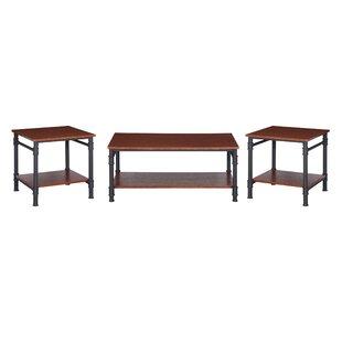 Williston Forge Bealeton Faux Wood 3 Piece Coffee Table Set