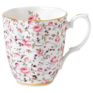 Rose Confetti Vintage Mug